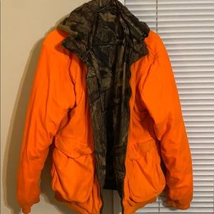 Camouflage reversible hunting heavy jacket/coat.